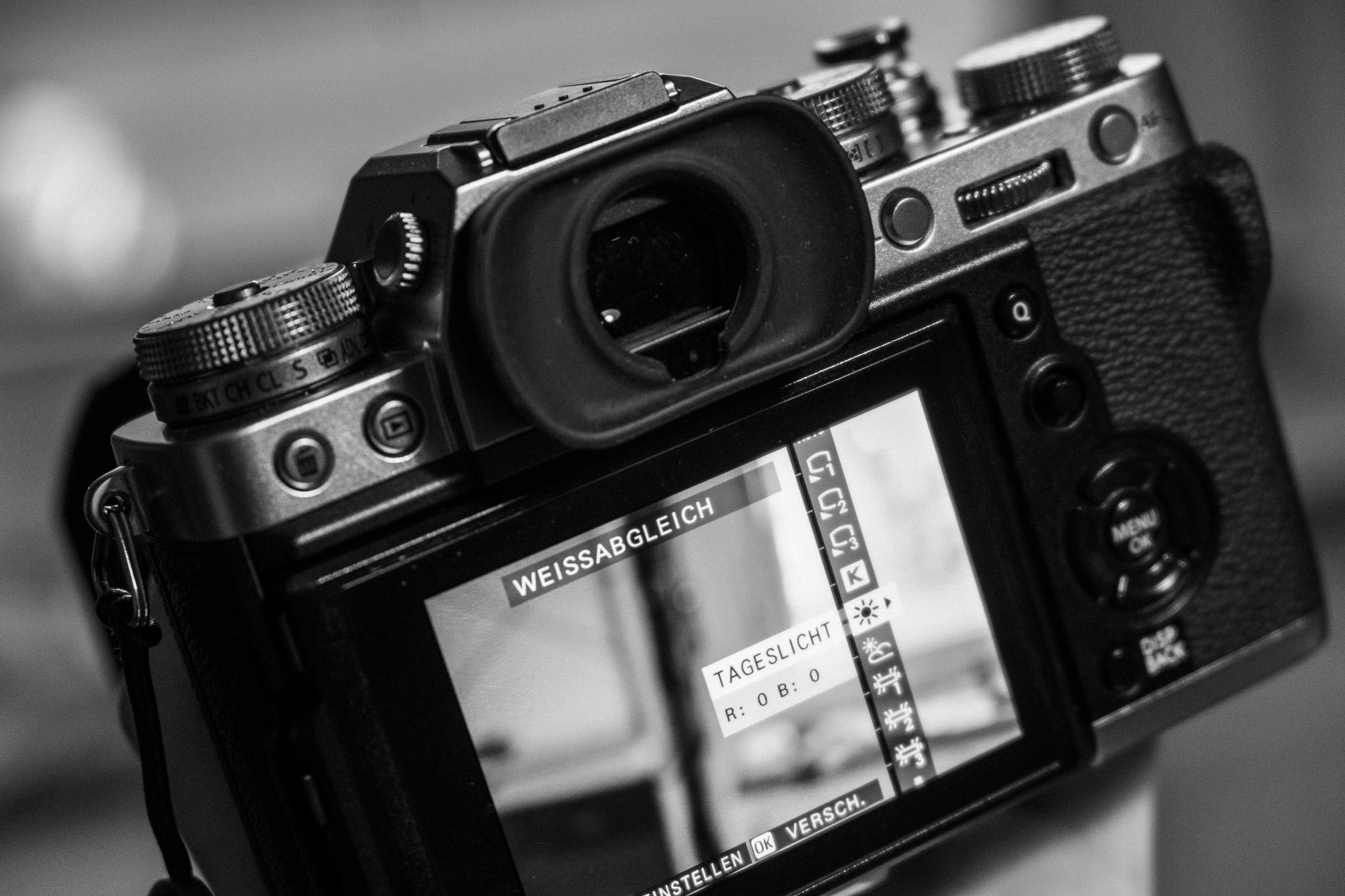 Verschieben des Weißabgleichs bei Fujifilm Kameras - DIE